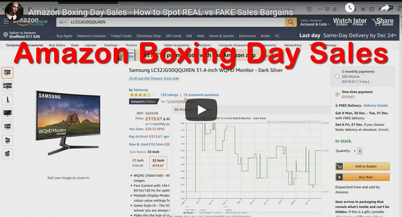 Amazon Boxing Day Sales - How to Spot REAL vs FAKE Sales Bargains