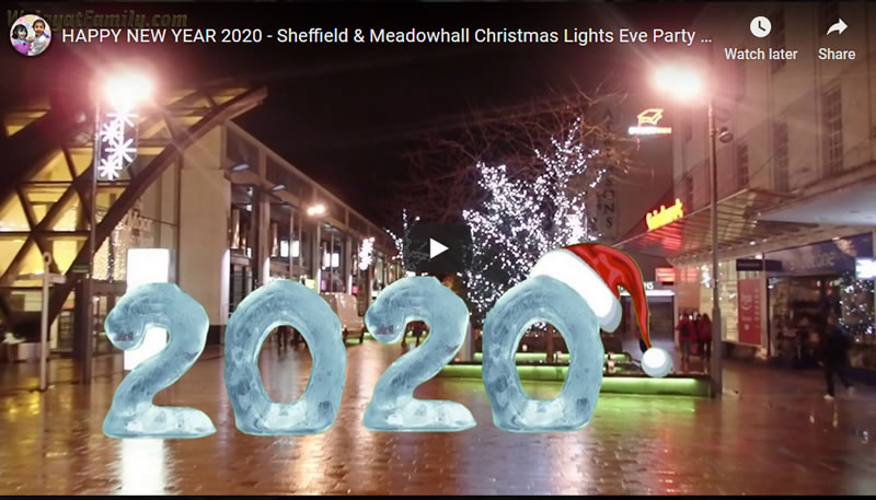 HAPPY NEW YEAR 2020 - Sheffield City Centre Christmas Lights Eve Party Fun