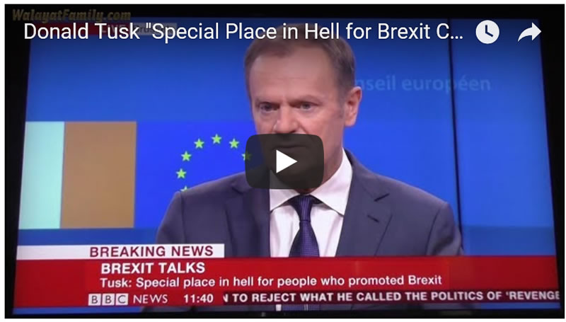 "Donald Tusk States "" There is a Special Place in Hell for Brexit Campaigners"" FULL Video"