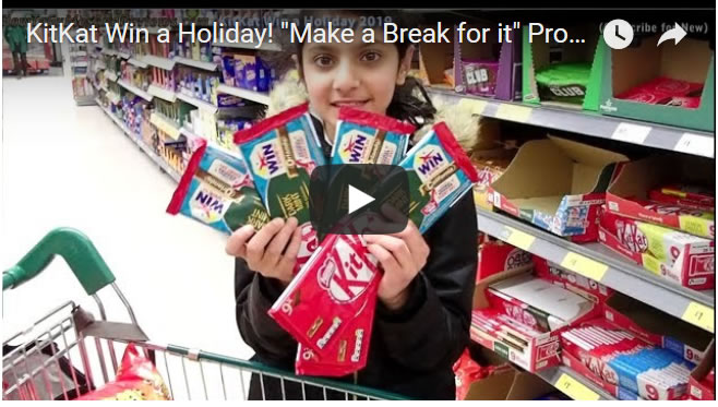 "KitKat Win a Holiday! ""Make a Break for it"" Promotion 2019"