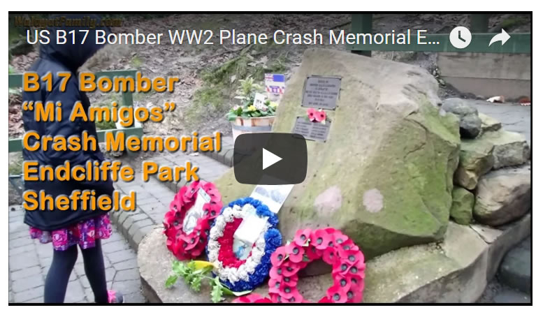 Sheffield B17 Bomber Crash 75th Anniversary Fly-past on 22nd February 2019