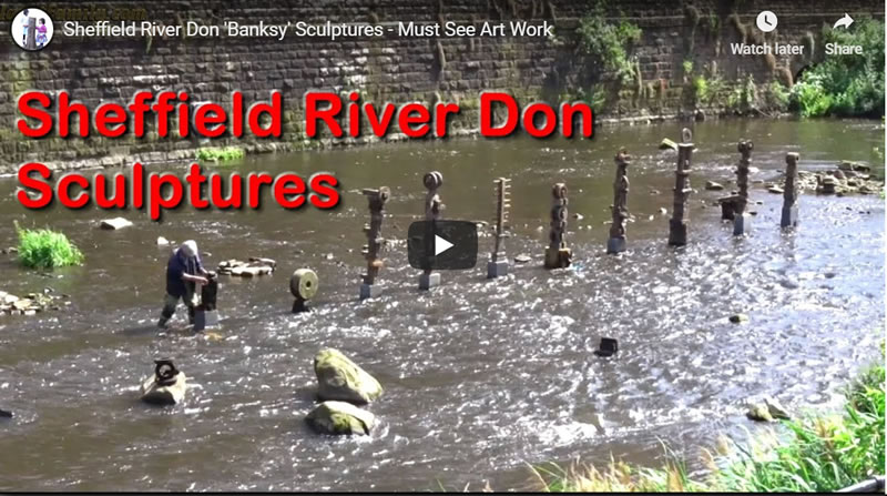 Sheffield River Don 'Banksy' Sculptures - Must See Art Work!