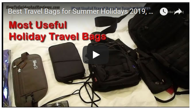 Best Travel Bags for Summer Holidays 2019, Back Sling packs, water proof, money belt, tactical