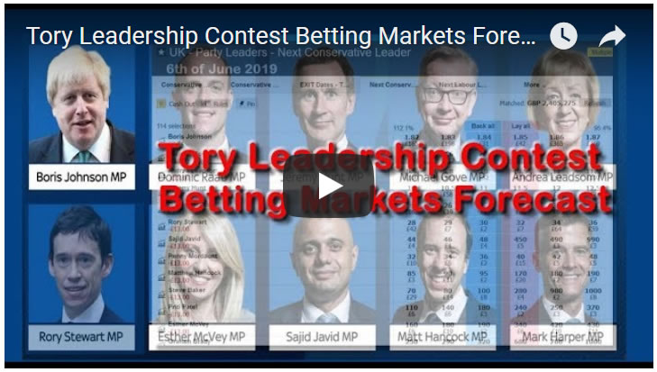 Next Tory Leader Betting Markets (Betfair)