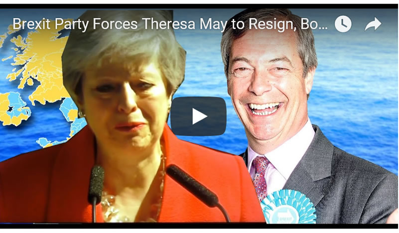 Brexit Party Forces Theresa May to Resign, Boris Johnson Next Tory Prime Minister?