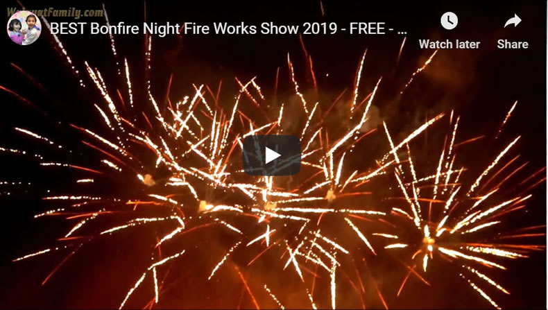Best Money Saving FREE Bonfire Night Fire Works Show Sheffield 2019