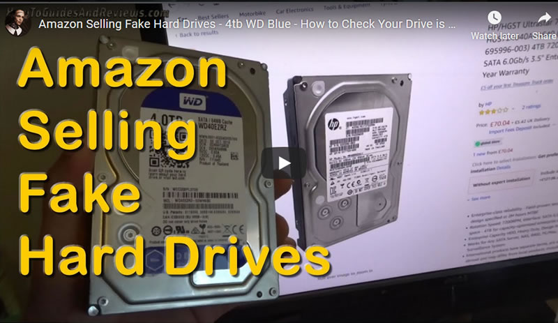 Amazon Selling Fake Hard Drives - 4tb WD Blue - How to Check Your Drive is Genuine