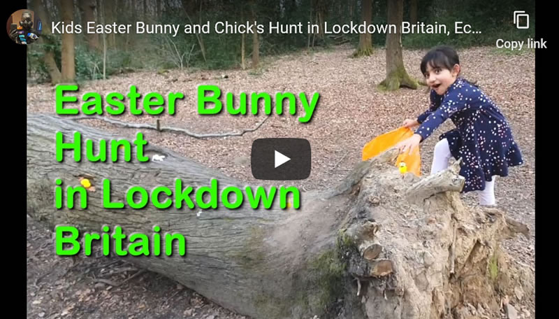 Kids Easter Bunny and Chicken's Hunt in Lockdown Britain, Ecclesall Woods, Sheffield