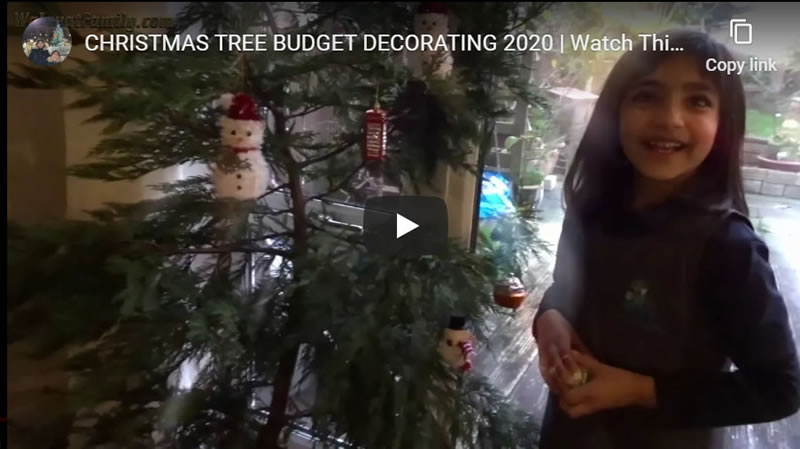 CHRISTMAS TREE BUDGET DECORATING 2020