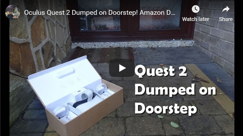 Oculus Quest 2 Dumped on Doorstep! Amazon Deliveries Handed to Sleeping Resident