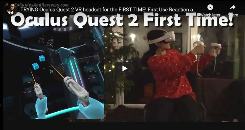 Oculus Quest 2 VR Headset Using for the FIRST TIME - Reaction and Impressions