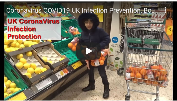 Coronavirus COVID19 UK Infection Prevention, Boosting Immune Systems, Birmingham, Sheffield
