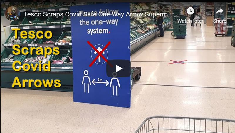 Tesco Scraps Covid Safe One Way Arrow Supermarket Shopping System