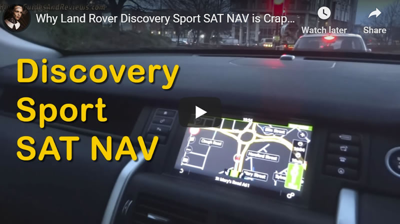 Why Land Rover Discovery Sport SAT NAV is Crap, Use Google Maps Instead