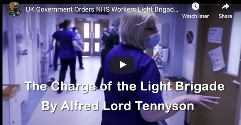 UK Government Orders NHS Workers Light Brigade Charge into the Valley of Coronavirus Death