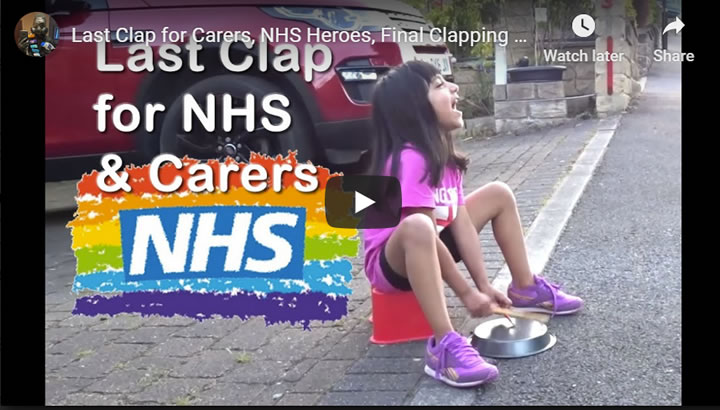 Last Clap for NHS and Carers, Sheffield UK