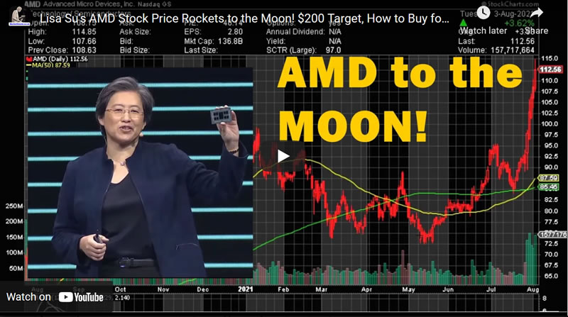 Lisa Su's AMD Stock Price Rockets to the Moon! $200 Target, How to Buy for Under $78
