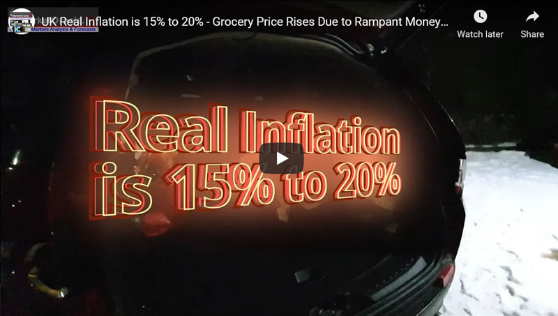 UK Real Inflation is 15% to 20% - Grocery Price Rises Due to Rampant Money Printing