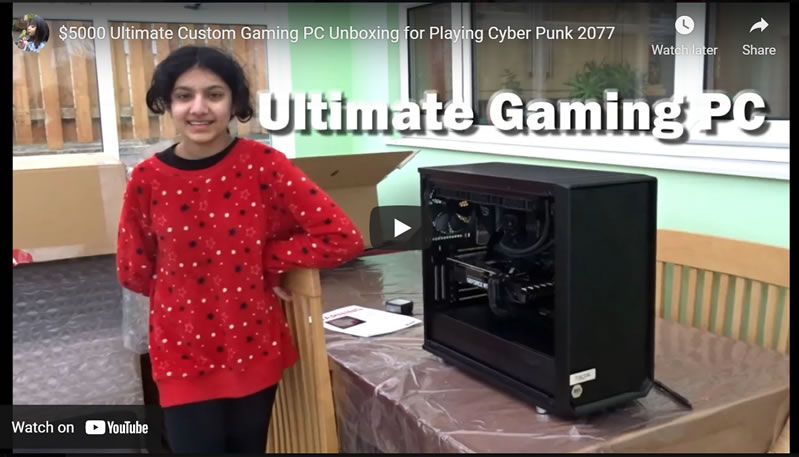 $5000 Ultimate Custom Gaming PC Unboxing for Playing Cyber Punk 2077