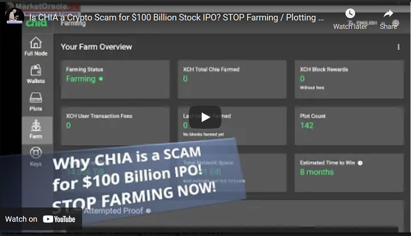 Is CHIA a Crypto Scam for $100 Billion Stock IPO? STOP Farming / Plotting CHIA NOW!