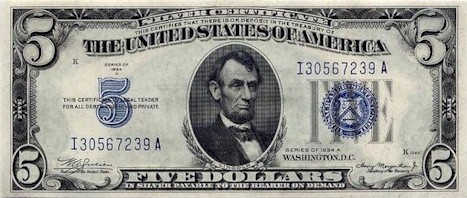 US$5 Silver Certificate