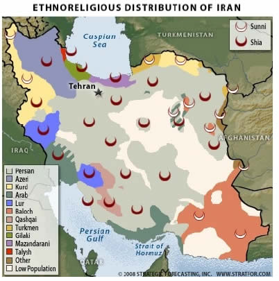 Ethnoreligious Distribution of Iran