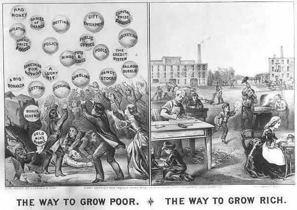 The way to grow poor. The way to grow rich.