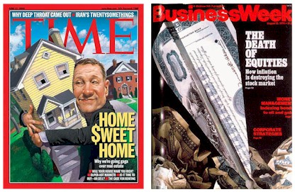 Covers of selected Time and Business Week