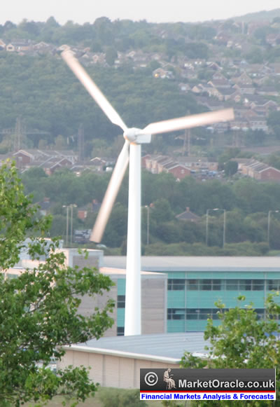 Wind power, especially when used on a large scale, is a great alternative source of energy.
