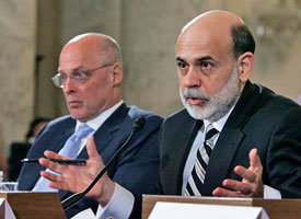 Paulson and Bernanke cajole Congress into forking over $700 BILLION to create TARP.