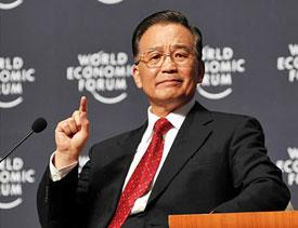 Wen Jiabao squarely blamed the U.S. for China's economic woes.