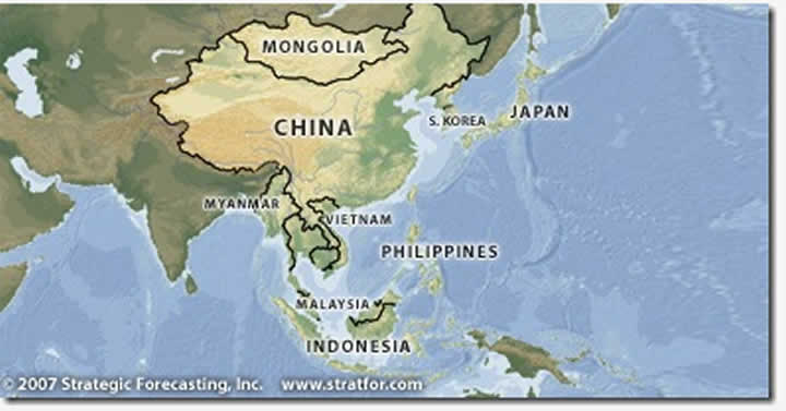 east asia map outline. Annual East Asia Map - Real