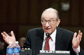 Greenspan's policies drove the cost of money into the gutter.
