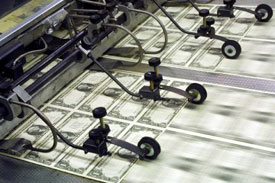 The Treasury Department will need to crank up its printing presses to an unprecedented speed to pay for all the commitments Washington is making.