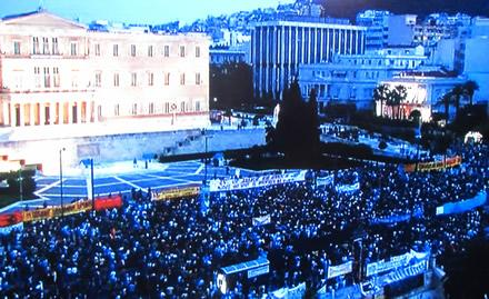 Riots have broken out over the tough sacrifices Greeks have been asked to make.