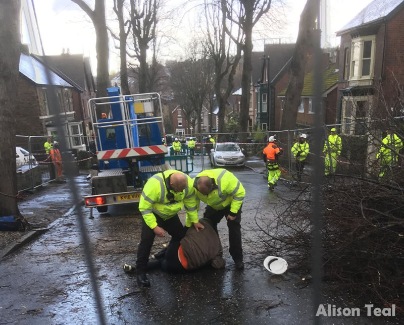 Here is a video example of the secuity patrols on Sheffield's streets as  they descend upon a tree lined Sheffield suburban street, Abbeydale Park  Rise, ...