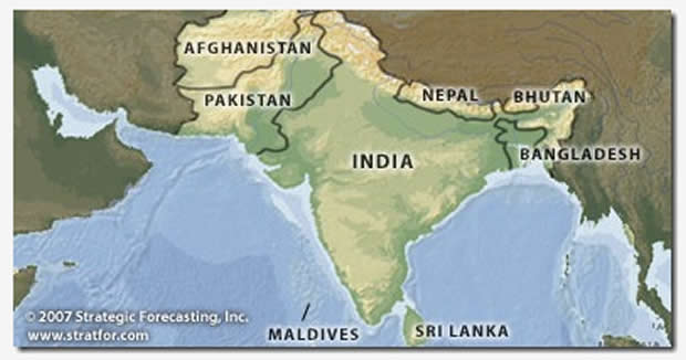 Annual South Asia Map - Real One