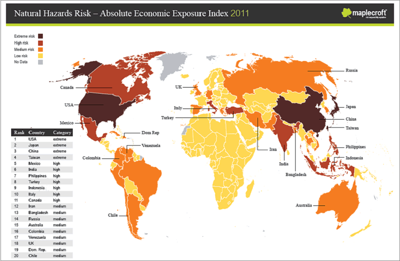 Which Countries Have Most Natural Disasters