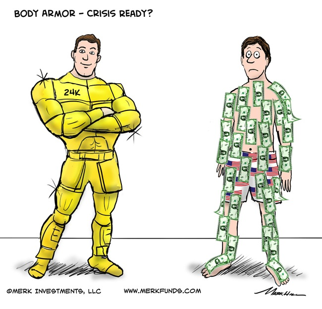 Gold vs Dollar Cartoon