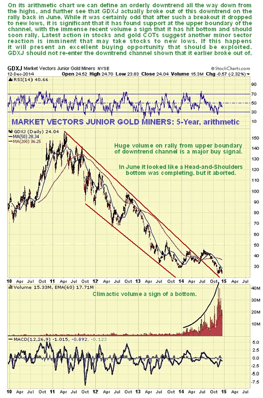 Market Vectors Junior Gold Miners 5-Year Arithmetic Chart