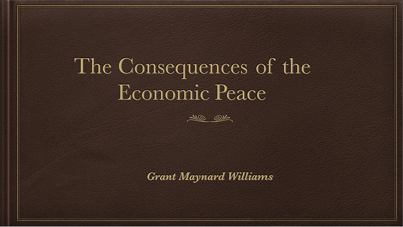an analysis of the economic consequence of the peace The economic consequences of the peace, by john maynard keynes london: macmillan, 1919 new york: harcourt, 1920 i have a vivid recollection of walking up whitehall in the early summer of 1919, when we were all tired of reading the tiny daily increments of news and views in the papers concerning the proceedings at versailles, and getting confirmation of the rumor that the economists had been.