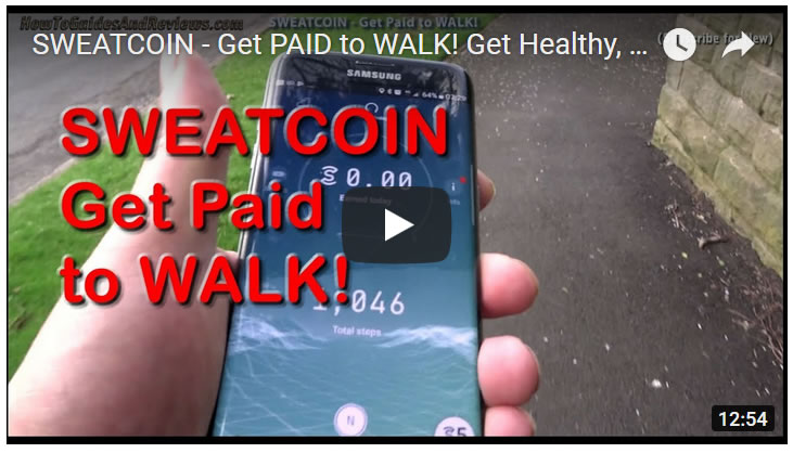 SWEATCOIN - Get PAID to WALK! Incentive to Burn Fat and Lose