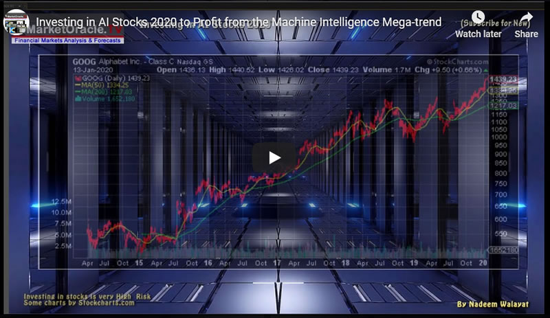Investing in AI Stocks 2020 to Profit from the Machine Intelligence Mega-trend