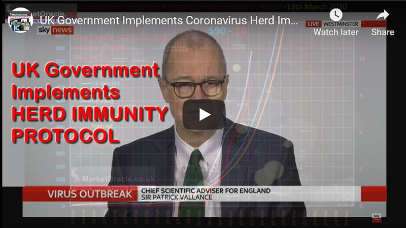 UK Government Implements Coronavirus Herd Immunity Protocol, Plans for 1.4 Million Covid-19 Deaths