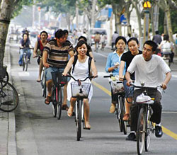 The first mention of bicycles in China was in 1860, when a European official wrote of seeing a velocipede, an early version of the bicycle, newly-arrived from Paris. Nowadays, China is known as the world's bicycle kingdom.